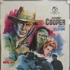Kino - JQ61 TAMBORES LEJANOS GARY COOPER RAOUL WALSH POSTER ORIGINAL 70X100 ESPAÑOL - 15167293