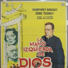 Cine: JQ70 LA MANO DE IZQUIERDA DE DIOS HUMPHREY BOGART POSTER ORIGINAL ESTRENO 70X100. Lote 15188857