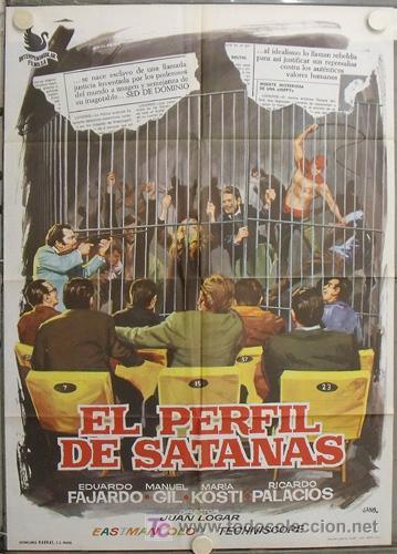 JR13 EL PERFIL DE SATANAS JUAN LOGAR POSTER ORIGINAL 70X100 ESTRENO (Cine - Posters y Carteles - Terror)