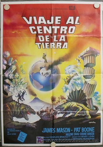 JR16 VIAJE AL CENTRO DE LA TIERRA JAMES MASON JULIO VERNE POSTER ORIGINAL 70X100 ESPAÑOL (Cine - Posters y Carteles - Aventura)