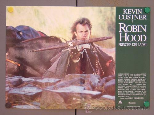 ET35 ROBIN HOOD PRINCIPE DE LOS LADRONES KEVIN COSTNER SET 6 POSTERS ORIGINAL ITALIANO 47X68 (Cine - Posters y Carteles - Aventura)
