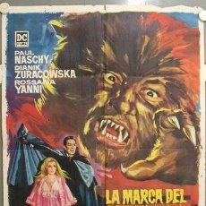 Cine: JR54 LA MARCA DEL HOMBRE LOBO PAUL NASCHY POSTER ORIGINAL 70X100 ESTRENO. Lote 15196260