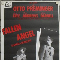 Cine: QR05 ANGEL O DIABLO ALICE FAYE DANA ANDREWS LINDA DARNELL POSTER ORIGINAL ESPAÑOL 70X100 R-89. Lote 15247116