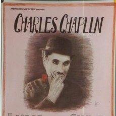Cine: E342 LUCES DE LA CIUDAD CHARLES CHAPLIN POSTER ORIGINAL ESPAÑOL 70X100. Lote 15247705