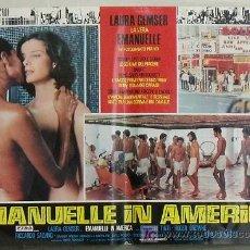 Cine: XV86D EMANUELLE EN AMERICA JOE D'AMATO LAURA GEMSER SEXY DESNUDA POSTER ORIGINAL ITALIANO 47X68. Lote 15251559