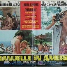 Cine: VF38D EMANUELLE EN AMERICA JOE D'AMATO LAURA GEMSER SEXY DESNUDA POSTER ORIGINAL ITALIANO 47X68. Lote 15258879