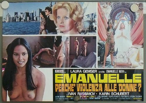XV87D EMANUELLE ALREDEDOR DEL MUNDO LAURA GEMSER JOE D'AMATO DESNUDA POSTER ORIGINAL ITALIANO 47X68 (Cine- Posters y Carteles - Drama)