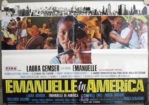 XV88D EMANUELLE EN AMERICA JOE D'AMATO LAURA GEMSER SEXY DESNUDA POSTER ORIGINAL ITALIANO 68X94 (Cine - Posters y Carteles - Terror)