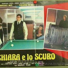 Cine: JT63 THE POOL HUSTLERS / IO CHIARA E LO SCURO BILLAR POSTER ORIGINAL 47X68 ITALIANO. Lote 15283659