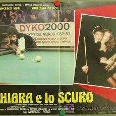 Cine: JT65 THE POOL HUSTLERS / IO CHIARA E LO SCURO BILLAR POSTER ORIGINAL 47X68 ITALIANO. Lote 15283670