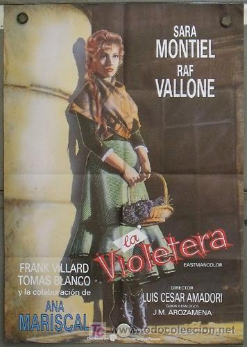 QE56 LA VIOLETERA SARA MONTIEL POSTER ORIGINAL 70X100 ESPAÑOL (Cine - Posters y Carteles - Clasico Español)