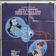 Cine: JT76 EL APARTAMENTO JACK LEMMON BILLY WILDER POSTER ORIGINAL 70X100 ESPAÑOL. Lote 15291113