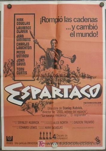JT83 ESPARTACO STANLEY KUBRICK KIRK DOUGLAS POSTER ORIGINAL 70X100 ESPAÑOL (Cine - Posters y Carteles - Aventura)