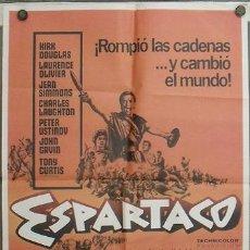 Cine: JT83 ESPARTACO STANLEY KUBRICK KIRK DOUGLAS POSTER ORIGINAL 70X100 ESPAÑOL. Lote 15291326