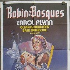 Cine: JT85 ROBIN DE LOS BOSQUES ERROL FLYNN POSTER ORIGINAL 70X100 ESPAÑOL. Lote 15291439