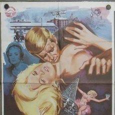 Cine: JT86 LOS INSACIABLES GEORGE PEPPARD CARROLL BAKER ALAN LADD POSTER ORIGINAL 70X100 ESPAÑOL. Lote 15291509