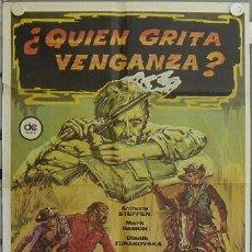 Cine: JT98 QUIEN GRITA VENGANZA ANTHONY STEFFEN MARK DAMON SPAGHETTI POSTER ORIGINAL 70X100 ESPAÑOL. Lote 15295302