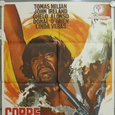 Cine: JU67 CORRE CUCHILLO CORRE SERGIO SOLIMA TOMAS MILIAN SPAGHETTI POSTER ORIGINAL 70X100 ESTRENO. Lote 213488393