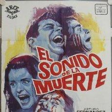 Cine: JU63 EL SONIDO DE LA MUERTE ARTURO FERNANDEZ SOLEDAD MIRANDA POSTER ORIGINAL 70X100 ESTRENO. Lote 95638939
