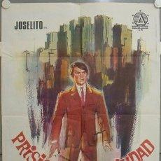 Cine: JU74 PRISIONERO EN LA CIUDAD JOSELITO RAFAELA APARICIO POSTER ORIGINAL 70X100 ESTRENO. Lote 15357941