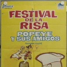 Cine: JV38 POPEYE Y SUS AMIGOS FESTIVAL DE LA RISA CORTOS POSTER ORIGINAL 70X100 ESTRENO. Lote 15373241