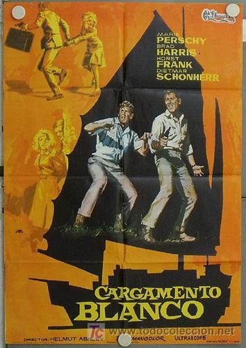 JV42 CARGAMENTO BLANCO MARIA PERSCHY HORST FRANK JANO POSTER ORIGINAL 70X100 ESTRENO (Cine - Posters y Carteles - Aventura)