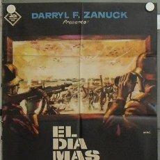 Cinéma: OU10D EL DIA MAS LARGO JOHN WAYNE SEGUNDA GUERRA MUNDIAL MAC POSTER ORIGINAL 70X100 ESTRENO. Lote 15416912