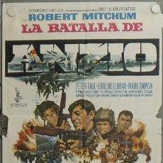 Cine: JW34 LA BATALLA DE ANZIO ROBERT MITCHUM PETER FALK ROBERT RYAN POSTER ORIGINAL 70X100 ESTRENO. Lote 15431331