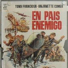 Cine: JW36 EN PAIS ENEMIGO TONY FRANCIOSA ANJANETTE COMER POSTER ORIGINAL 70X100 ESTRENO. Lote 15431403