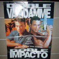 Cine: DOBLE IMPACTO JEAN CLAUDE VAN-DAMME POSTER ORIGINAL 70X100 Q. Lote 237571255
