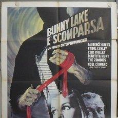 Cine: JW79 EL RAPTO DE BUNNY LAKE OTTO PREMINGER LAURENCE OLIVIER POSTER ORIGINAL ITALIANO 100X140. Lote 15448370
