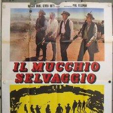 Cine: VU86D GRUPO SALVAJE SAM PECKINPAH WILLIAM HOLDEN POSTER ORIGINAL ITALIANO 140X200. Lote 19968602