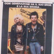 Cine: QG58 SID Y NANCY GARY OLDMAN SEX PISTOLS SID VICIOUS POSTER ORIGINAL ITALIANO 100X140. Lote 15449099