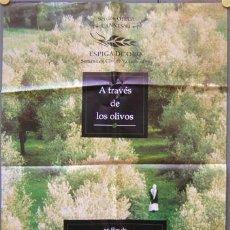 Cine: ER28 A TRAVES DE LOS OLIVOS TREES ABBAS KIAROSTAMI POSTER ORIGINAL ESTRENO 70X100. Lote 296716323