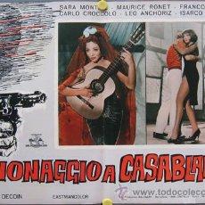 Cine: XJ99 NOCHES DE CASABLANCA SARA MONTIEL POSTER ORIGINAL ITALIANO 47X68. Lote 15450458