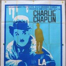 Cine: WE56D LA QUIMERA DEL ORO CHARLES CHAPLIN POSTER ORIGINAL 140X200 ITALIANO. Lote 35771046