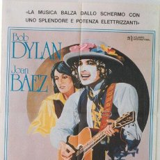 Cine: QA51 RENALDO Y CLARA BOB DYLAN JOAN BAEZ POSTER ORIGINAL ITALIANO 100X140. Lote 15452556