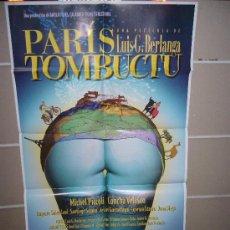 Cine: PARIS TOMBUCTU BERLANGA CONCHA VELASCO POSTER ORIGINAL 70X100 Q. Lote 45084008