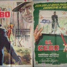 Cine: EL CEBO 1958 -- DOS POSTERS. Lote 15472522