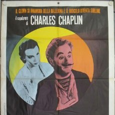 Cine: JX15 CANDILEJAS CHARLES CHAPLIN POSTER ORIGINAL ITALIANO 100X140. Lote 15485179