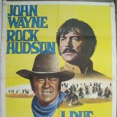 Cine: XN05D LOS INDESTRUCTIBLES JOHN WAYNE ROCK HUDSON POSTER ORIGINAL ITALIANO 100X140. Lote 15485800
