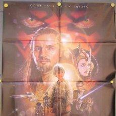 Cine: JX24 LA AMENAZA FANTASMA GUERRA DE LAS GALAXIAS STAR WARS POSTER ORIGINAL ITALIANO 100X140. Lote 15486409