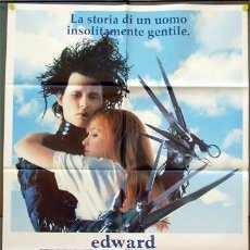 Cine: JX21 EDUARDO MANOSTIJERAS TIM BURTON JOHNNY DEPP WINONA RYDER POSTER ORIGINAL ITALIANO 100X140. Lote 15486569
