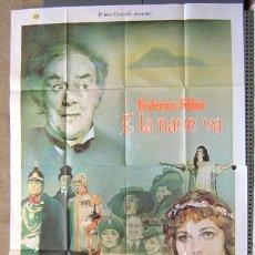 Cine: JX20 Y LA NAVE VA FEDERICO FELLINI POSTER ORIGINAL ITALIANO 140X200. Lote 15486747