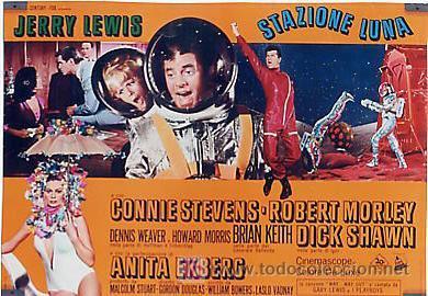 JX32 UN CHALADO EN ORBITA JERRY LEWIS SET DE 10 POSTERS ORIGINAL 47X68 ITALIANO (Cine - Posters y Carteles - Aventura)