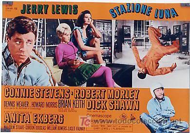 Cine: JX32 UN CHALADO EN ORBITA JERRY LEWIS SET DE 10 POSTERS ORIGINAL 47X68 ITALIANO - Foto 10 - 15487119