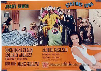 Cine: JX32 UN CHALADO EN ORBITA JERRY LEWIS SET DE 10 POSTERS ORIGINAL 47X68 ITALIANO - Foto 7 - 15487119