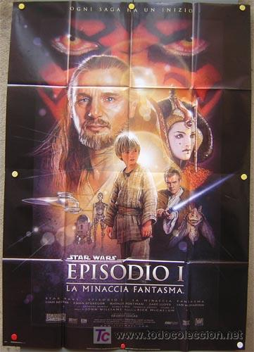 JX58 LA AMENAZA FANTASMA GUERRA DE LAS GALAXIAS STAR WARS POSTER ORIGINAL 140X200 ITALIANO (Cine - Posters y Carteles - Ciencia Ficción)