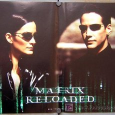 Cine: JX59D THE MATRIX RELOADED KEANU REEVES SET DE 6 POSTERS ORIGINAL ITALIANO 47X68. Lote 15501888
