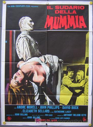 QE35 THE MUMMY'S SHROUD HAMMER JOHN GILLING POSTER ORIGINAL 100X140 ITALIANO (Cine - Posters y Carteles - Terror)